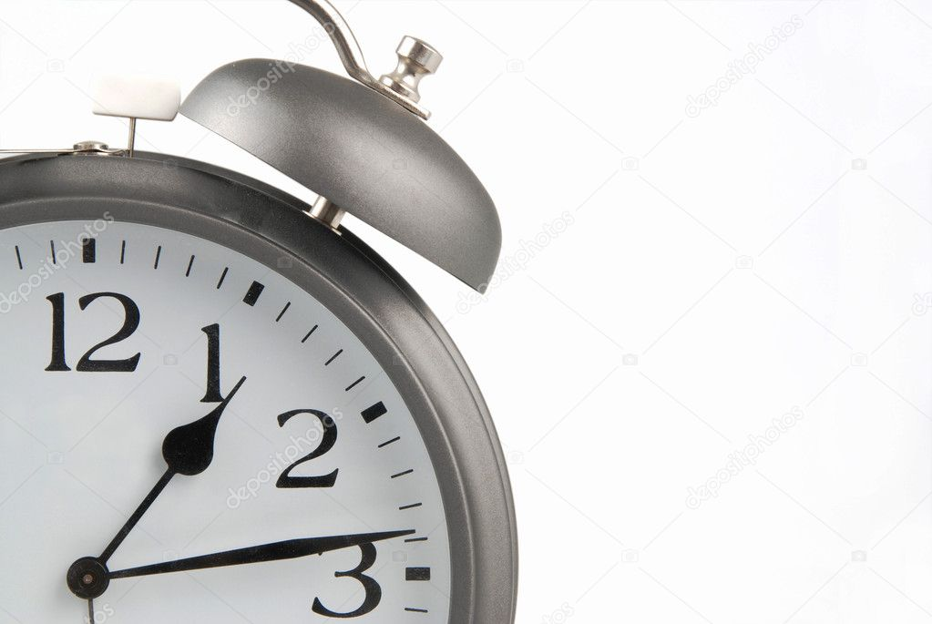 Old alarm clock isolated o the white background — Stock Photo #6806850