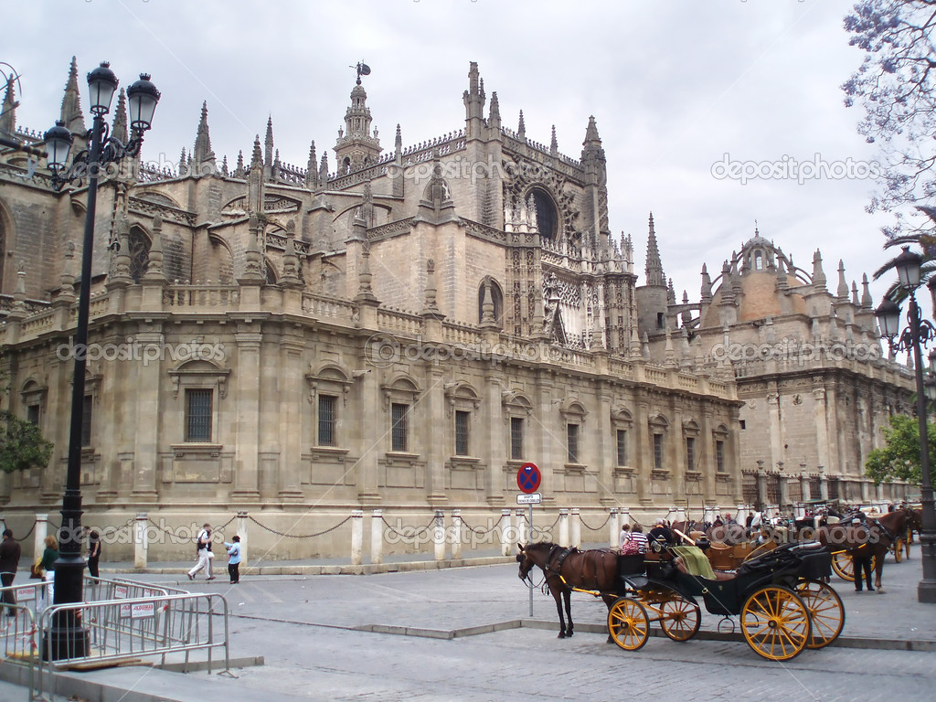 Mihty cathedral La Giralda,Sevilla in Spain  — Photo #6807837