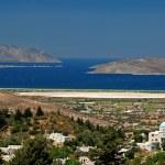 Greek church and sea — Stock Photo