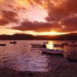 Sunset in Sardinian harbor — Stock Photo #6810264