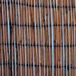 Bamboo mat against a blue sky — Foto Stock