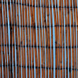Bamboo mat against a blue sky — Stockfoto