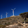 Wind turbines in movement — Stock Photo #6810360