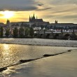 Stock Photo: Sunset in Prague