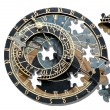 Puzzle ofAstronomical clock in Prague — Stockfoto