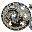Puzzle ofAstronomical clock in Prague — Stock fotografie