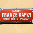 Stock Photo: Square of Franz Kafka