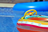 Toys in the pool — Stock Photo