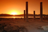 夕日と遺跡 — ストック写真