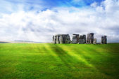 Sun rays over Stonehenge — Stock Photo