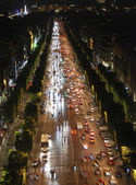 Champs Elysees at night — Stock Photo