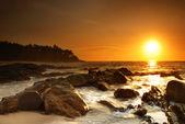 Zonsondergang over sri lanka — Stockfoto