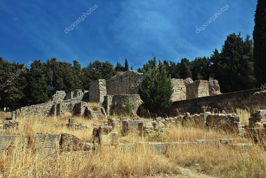 Ancient ruins of Greek Academy on Kos island — Stock Photo #6810203