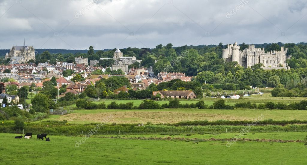 Beautiful historical town of Arundel in West Sussex, Great  Britain  Stock Photo #6810623