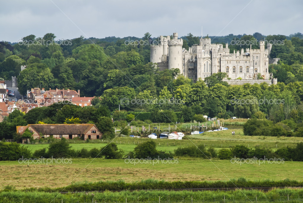 Beautiful historical town of Arundel in West Sussex, Great  Britain  Stock Photo #6810625