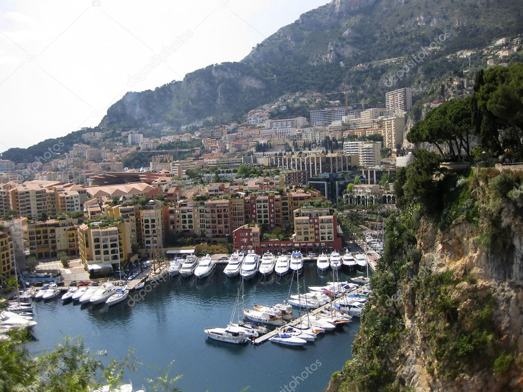 View at Monaco bay with a port and cityscape — Stock Photo #6811182