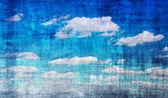 Blå himmel vintage — Stockfoto