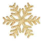 Gold glitter sneeuwvlok — Stockfoto