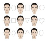 Tváře typy — Stock fotografie