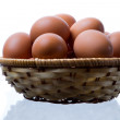 Royalty-Free Stock Photo: Eggs in the basket