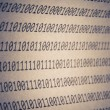 Stock Photo: Abstract binary code, vignetting