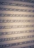 Abstract binary code, vignetting — Stock Photo