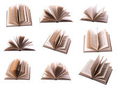 Nine open book — Stock Photo
