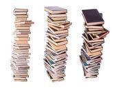 Three stacks of books — Stock Photo