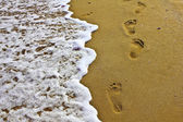 Steps in the sand — Stock Photo