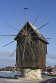 Wooden windmill — Stock Photo