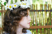 Portrait of a girl with a wreath — Stock Photo