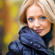 Stock Photo: Cute blonde in autumn