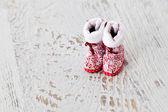 Santa's boots — Stock Photo