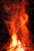 Sparkling campfire — Stock Photo