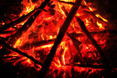 Sizzling campfire — Stock Photo