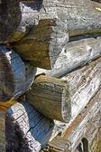 Log house corner — Stock Photo