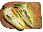 Zelené papriky — Stock fotografie