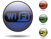 Wi-fi rounded logo — Vector de stock