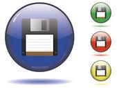 глянцевая сохранить кнопку набор — Cтоковый вектор
