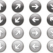 Stock Vector: Set of 8 arrow buttons