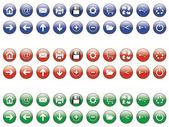 Set di 20 bottoni a sfera — Vettoriale Stock