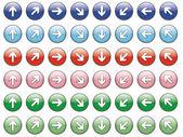 Conjunto de 48 flechas — Vector de stock