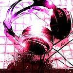 Artistic DJ Handset music Background — Stock Photo