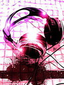 Artistic DJ Handset music Background — Stock Photo