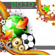 Royalty-Free Stock Vektorgrafik: World Footbal Championship 2010 Background for Party Flyers