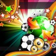 Royalty-Free Stock ベクターイメージ: World Footbal Championship 2010 Background for Party Flyers