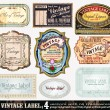 Vintage Labels Collection - Set 4 — Stock Vector