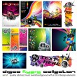 11 Abstract Music Background for Discoteque Flyer with a lot of desgin elem — Stock Vector #6763181