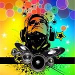 soyut gökkuşağı disko el ilanı — Stok Vektör