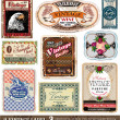 Vintage Labels Collection - Stock Vector
